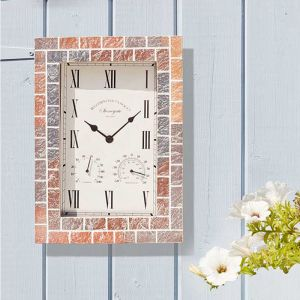 Smart Garden Outside In Stonegate Quad Wall Clock and Thermometer