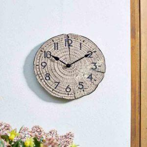 Smart Garden Outside In Tree Time Wall Clock