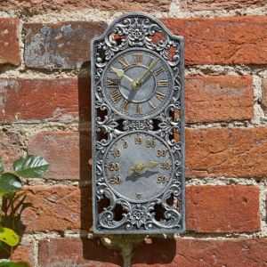 Smart Garden Outside In Westminster Wall Clock & Thermometer