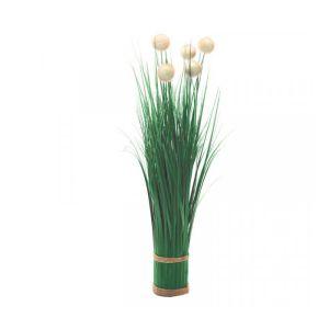 Smart Garden White Pom Pom Grass Faux Bouquet – 70cm