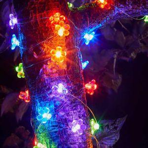 Smart Solar 30 LED Flower Firefly String Lights – Multi-coloured