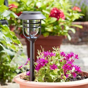 Smart Solar Avant Black Stake Light