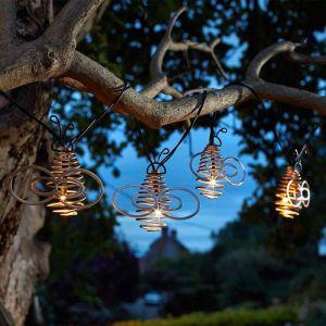 Smart Solar Bee Spiral String Lights – Warm White