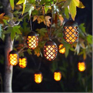 Smart Solar Cool Flame String Lights – 10 Lanterns