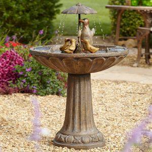 Smart Solar Duck Family Fountain