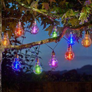 Smart Solar Eureka! Neonesque Bulb String Lights – 10 Bulbs
