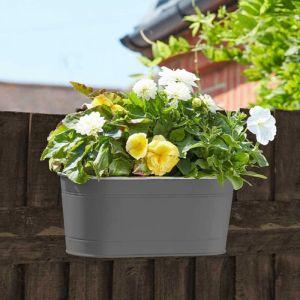 Smart Garden Fence & Balcony Hanging Planter – Slate Grey