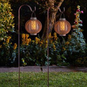 Smart Solar Forli Flaming Lantern – Pack of 2