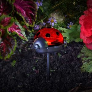 Smart Solar Lady Bird Stake Lights – Pack of 3