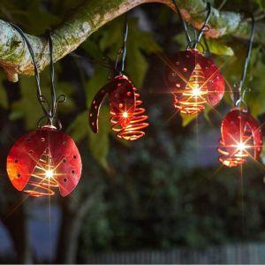 Smart Solar Ladybird Spiral String Lights – Warm White