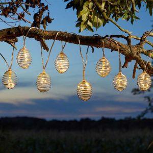 Smart Solar Spiralight Silver Solar String Lights – Warm White