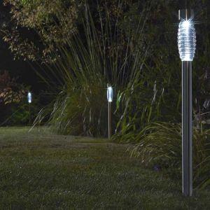 Smart Solar Stainless Steel Beacon Mast Ground Spike Lights