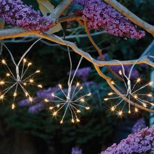 Smart Solar Starburst String Lights – Warm White