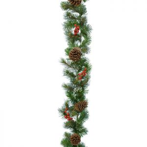 Decoris Snow, Berry and Cone Garland - 2.7m