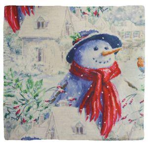 Christmas Snowman Cushion Cover - 44cm