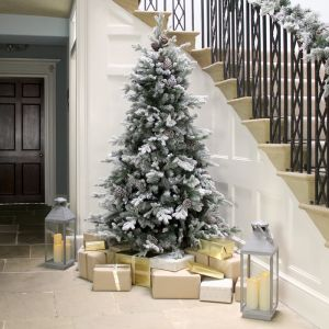 National Tree 7ft Snowy Dorchester Pine Christmas Tree