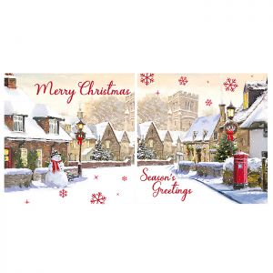 Snowy Village Christmas Cards - 12 Pack