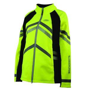 Weatherbeeta Reflective Softshell Fleece Lined Jacket – Yellow