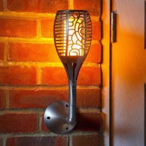 Smart Solar Cool Flame Wall Light