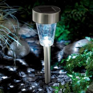 Cole and Bright Solar Glass Marker Light - Stainless Steel