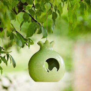 Burgon & Ball Sophie Conran Ceramic Bird Feeder - Pomegranate