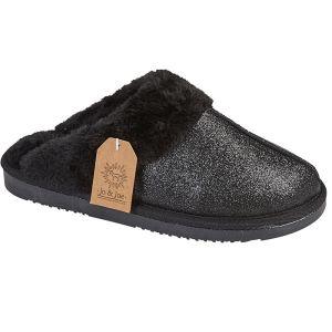 Jo & Joe Women's Sparkle Mule Slipper - Black