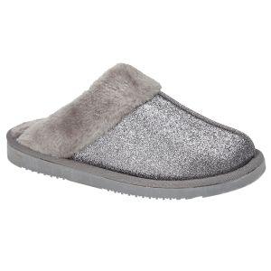 Jo & Joe Women's Sparkle Slippers - Grey