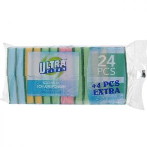 Ultra Clean Scouring Pads - 28 Pieces