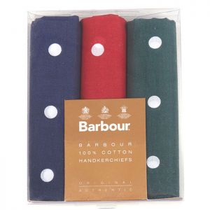 Barbour Spotted Handkerchief Set - Spotted Red, Green and Blue