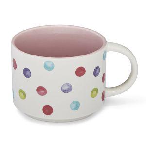 Cooksmart Pink Stacking Mug – Spotty Dotty