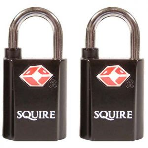 Squire DFTSA20T Travel Sentry Padlocks, 20mm - Pack of 2