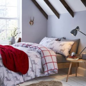 Catherine Lansfield Brushed Cotton Stag Duvet Set