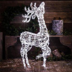 NOMA Outdoor Standing Reindeer LED Light Figure - 2m