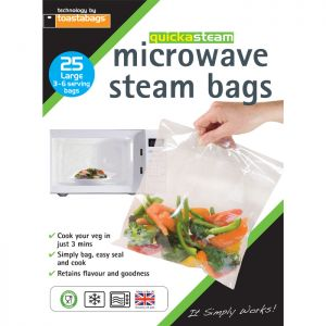 Planit Products 25 Microwave Steam Bags