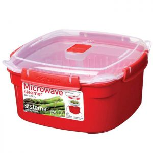 Sistema Microwave Steamer - Red
