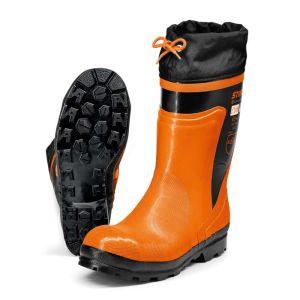 Stihl Standard Rubber Chainsaw Boots - Orange