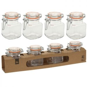 Clip Top Storage Jars - 4 Pack