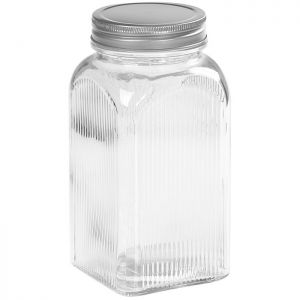 Tala Embossed Glass Storage Canister