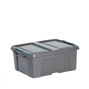 Strata Smart Box with Extra Strong Lid – 24 Litre, Charcoal Grey