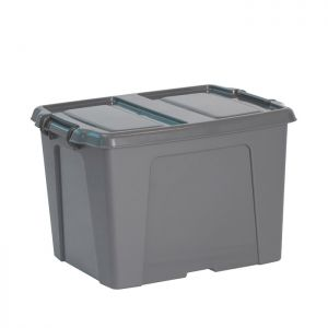 Strata Smart Box with Extra Strong Lid – 40 Litre, Charcoal Grey