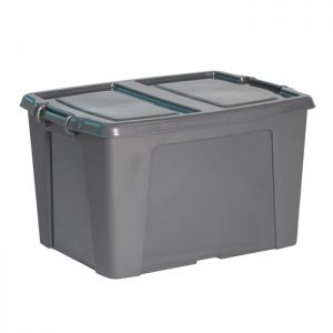 Strata Smart Box with Extra Strong Lid – 65 Litre, Charcoal Grey