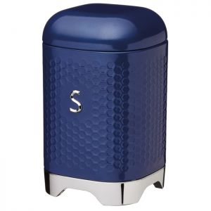 KitchenCraft Lovello Textured Sugar Canister – Midnight Navy