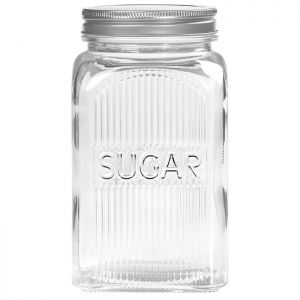 Tala Embossed Glass Sugar Canister