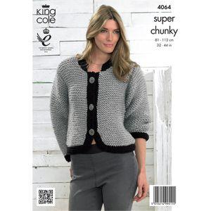 King Cole Super Chunky Bolero and Jacket Knitting Pattern