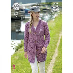 King Cole Super Chunky Jacket and Sweater Knitting Pattern