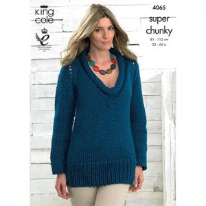 King Cole Super Chunky Sweater and Cardigan Knitting Pattern