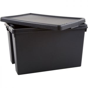 Wham Bam Recycled Heavy Duty Storage Box with Lid - 62 Litres