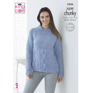 King Cole Super Chunky Cardigan and Sweater Knitting Pattern