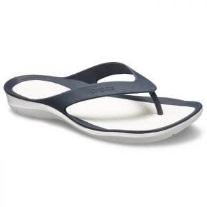 Crocs Women's Swiftwater Flips - Navy/White