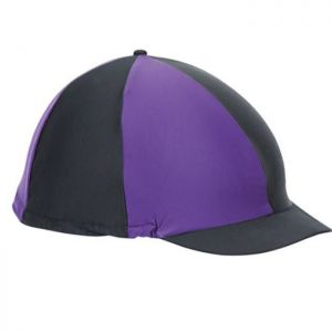 Shires Hat Cover - Black/Purple